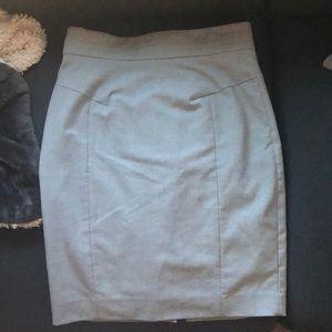 Gray H&M pencil skirt